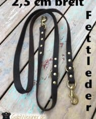 Fettleder-2-fach-verstellbar-messing-2,5-cm-breit