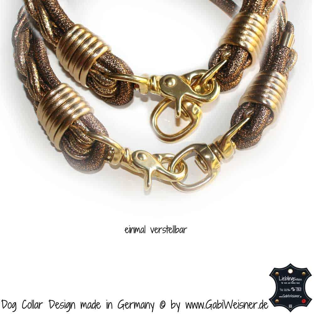Hundehalsband-Goldstück-Vintage-Gold-3