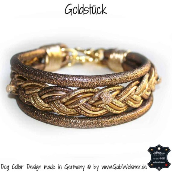 Hundehalsband Goldstück