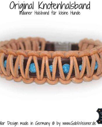 Indianer Halsband Leder 3 cm breit