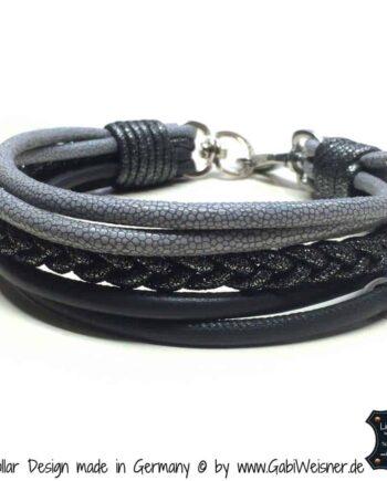 hundehalsband grau