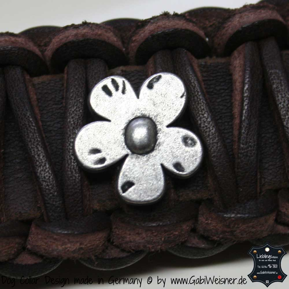 fettlederleine 2 cm breit leder in schwarz oder braun. Black Bedroom Furniture Sets. Home Design Ideas