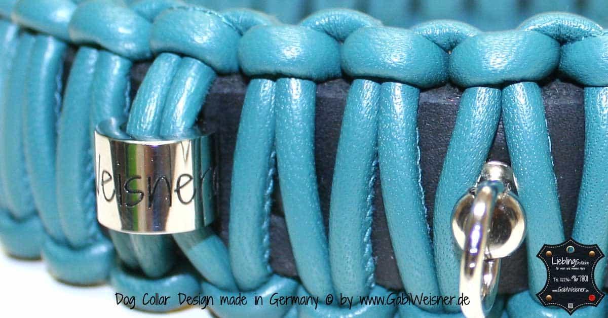Hundehalsband-Leder-Knotenhalsband-Petrol-1
