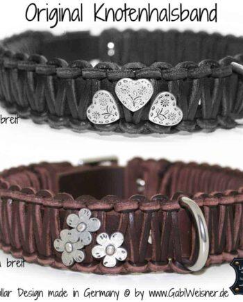 Hundehalsband Leder in Schwarz oder Braun