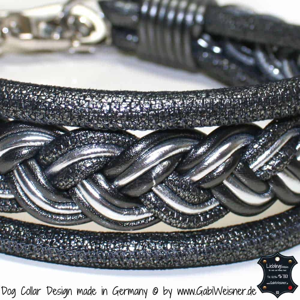 Hundehalsband-Ledermix-4,5 cm breit-1
