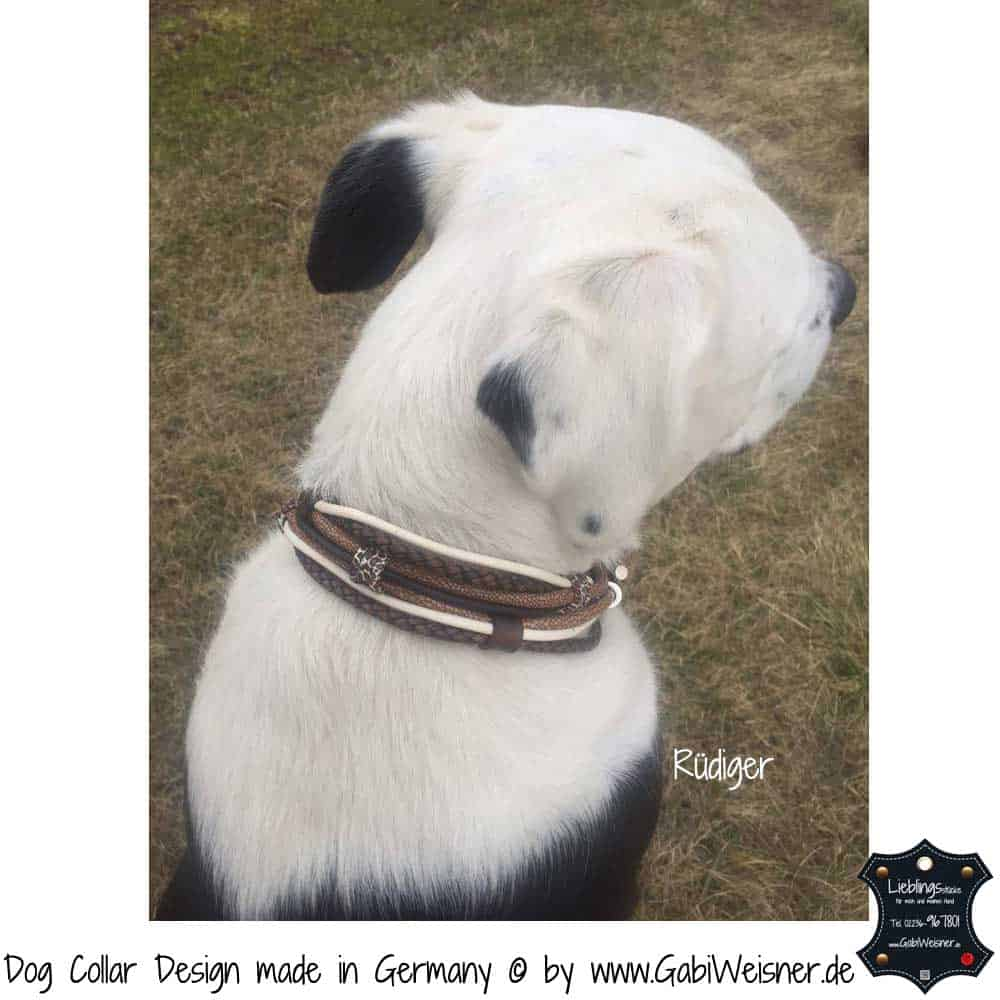 Hundehalsband-Ledermix-Braun-Beige-8
