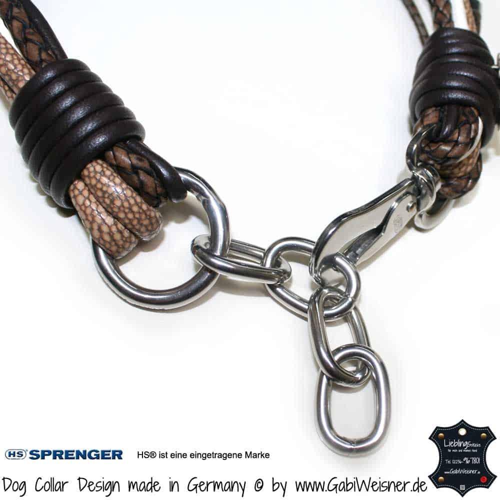 Hundehalsband-Ledermix-verstellbar