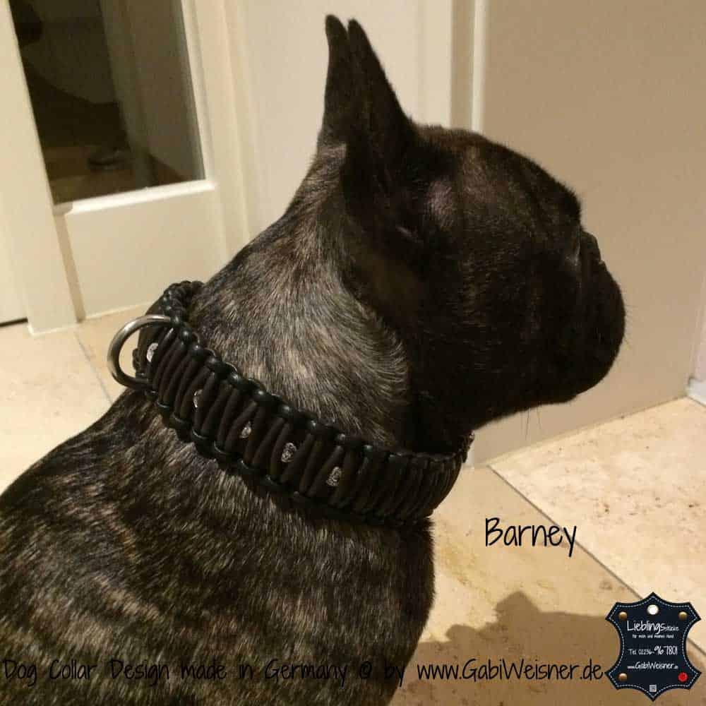 Hundehalsband-aus-Nappaleder-geknotet-und-veredelt-mit-SWAROVSKI-ELEMENTS-Barney-2