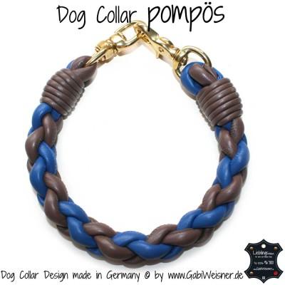 dog collar pompös blau taupe