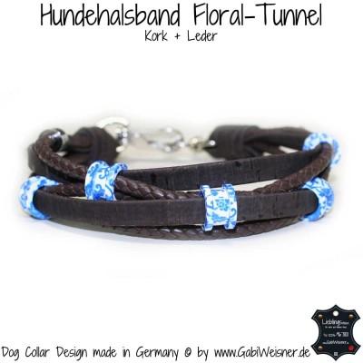 Hundehalsband Leder und Kork