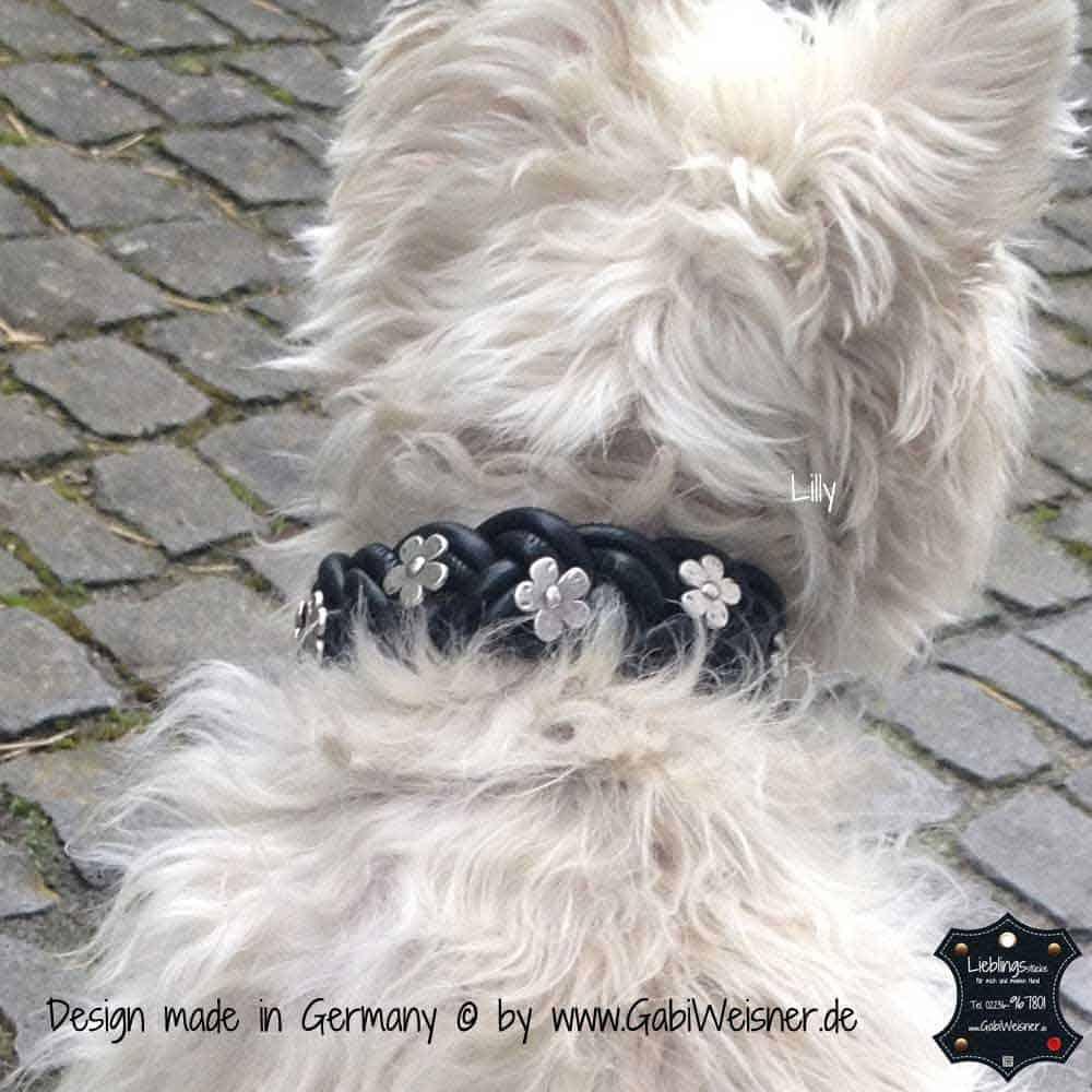 Hundehalsband-geflochten,-Leder-3-cm-breit-11