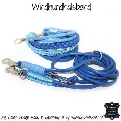 Windhundhalsband und Leine