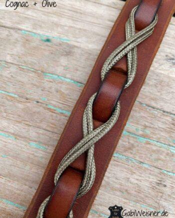 Hundehalsband aus Leder, 25 mm breit, speziell dekoriert