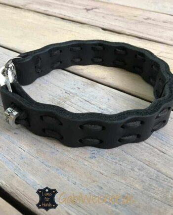 Hundehalsband Fettleder 2,5 cm breit