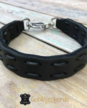 Hundehalsband Leder 3 cm breit mit SPRENGER® Haken