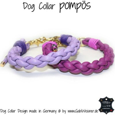 dog collar pompoes flieder