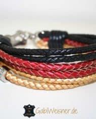 hundehalsband-schwarz-rot-gold-1