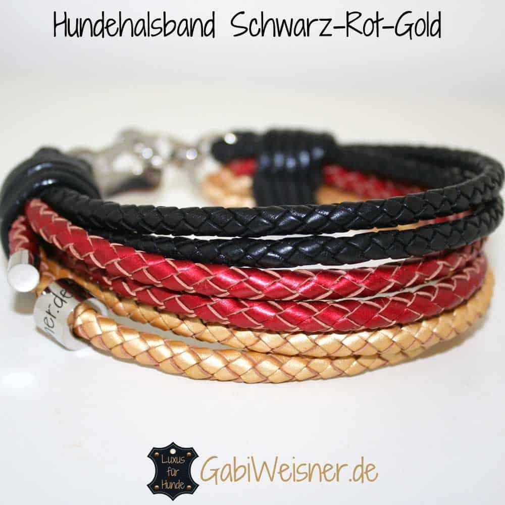 Hundehalsband Deutschland Schwarz-Rot-Gold
