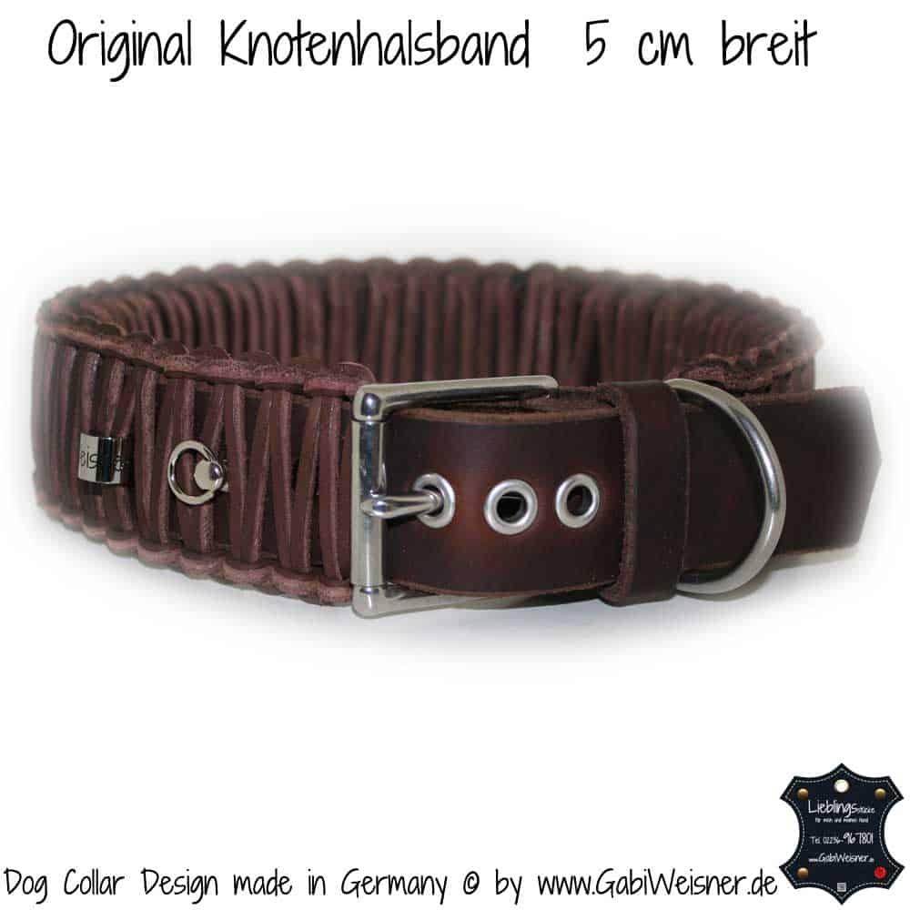 Hundehalsband-Leder-geflochten-Original-Knotenhalsband-5-cm-breit