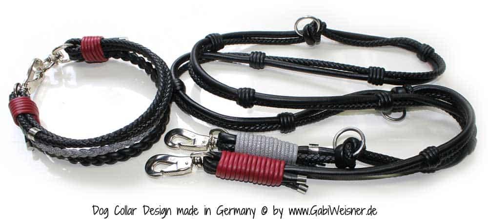 Luxus set hundehalsband leine
