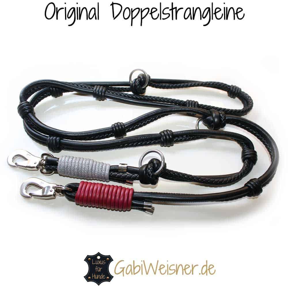 Hundeleine Leder Schwarz Luxus für den Hundehalter