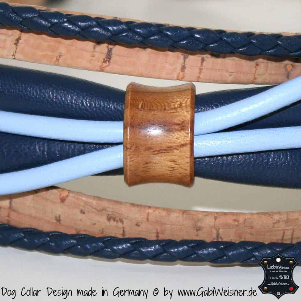 Hundehalsband-Ledermix-blau-kork-holz-tunnel-2