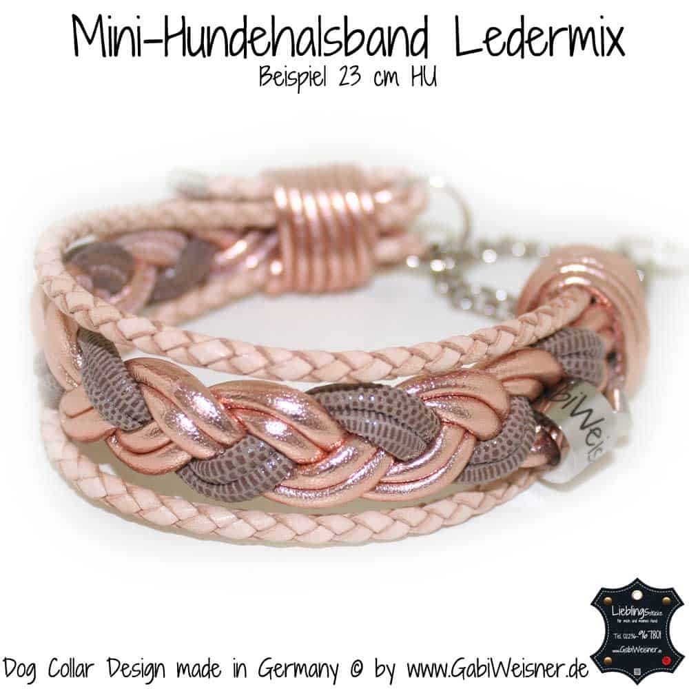 Hundehalsband-Ledermix-Rosegold-1