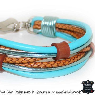 Mini-Hundehalsband Leder Mix