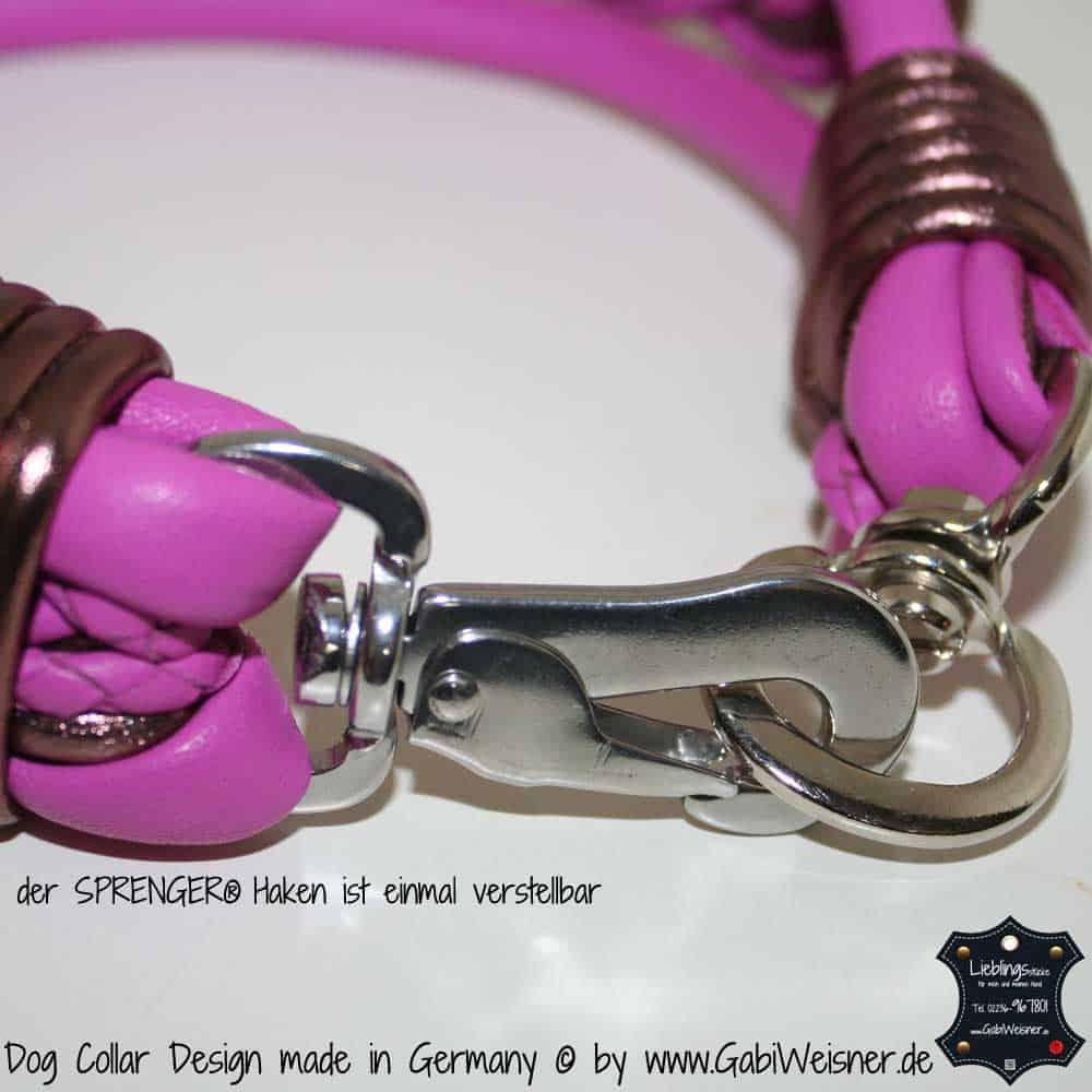 Hundehalsband-5-cm-breit-geflochten-pink-4