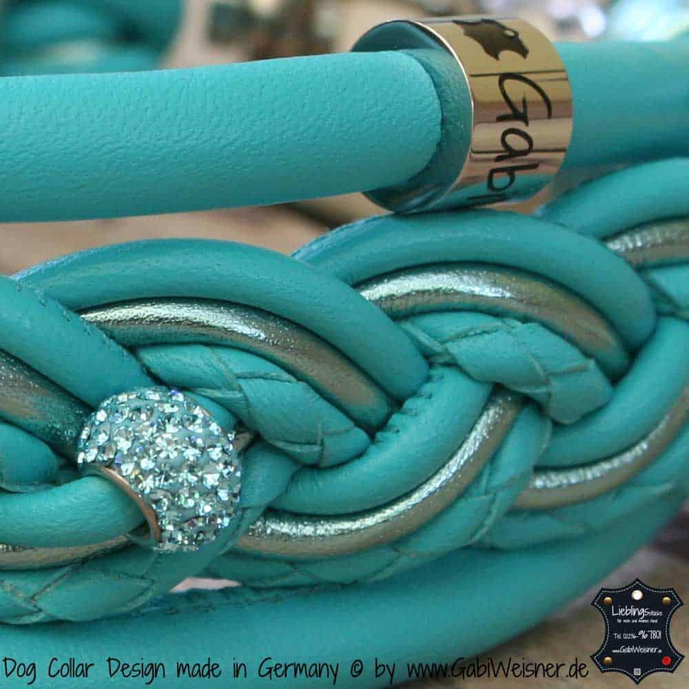 Hundehalsband-5-cm-breit-geflochten-tuerkis-2