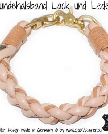 Hundehalsband Lack und Leder