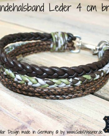 Hundehalsband Leder Mix 4 cm breit