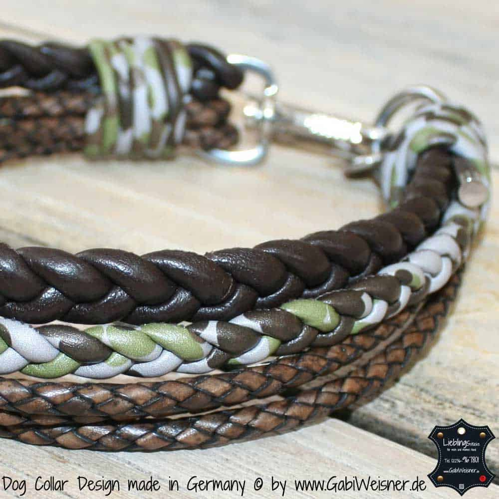 Hundehalsband-Leder-Braun-Camouflage-2