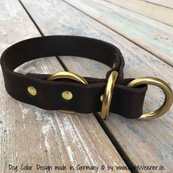 Hundehalsband Zugstopp Fettleder