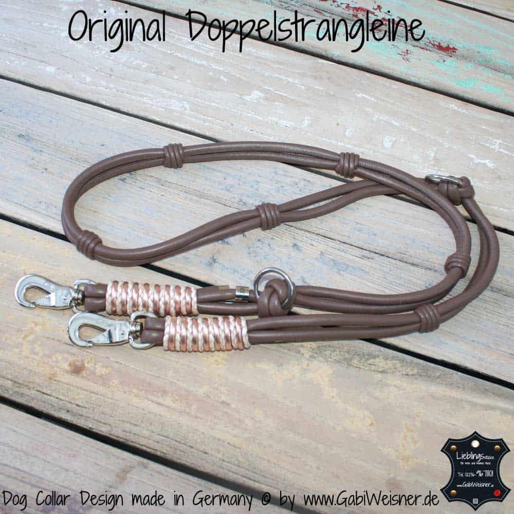 Hundeleine-Leder-Taupe-Rosegol-1