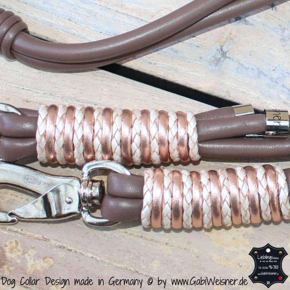 Hundeleine-Leder-Taupe-Rosegol-2