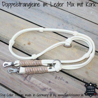 Fuehrleine Leder und Kork