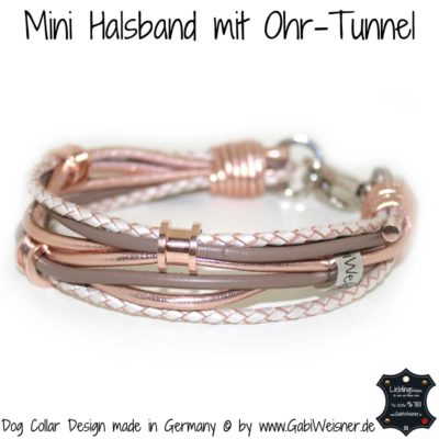 Mini-Hundehalsband Ohr-Tunnel