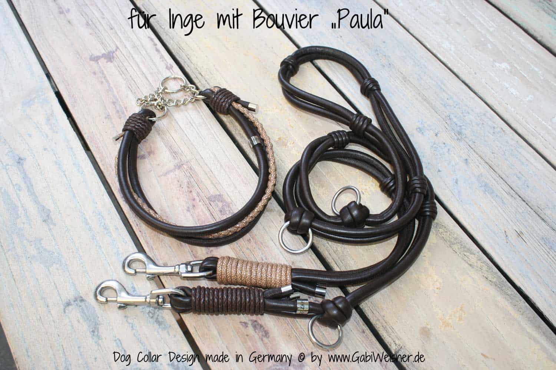 Hundehalsband Zugstopp Leder
