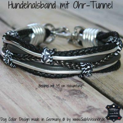Hundehalsband Leder Ohr-Tunnel