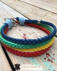 Regenbogen-Halsband-4-cm-breit-geflochten-mit-5-Farben-kette-1