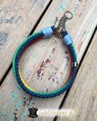 Regenbogen-Halsband-4-cm-breit-geflochten-mit-5-Farben-kette-2