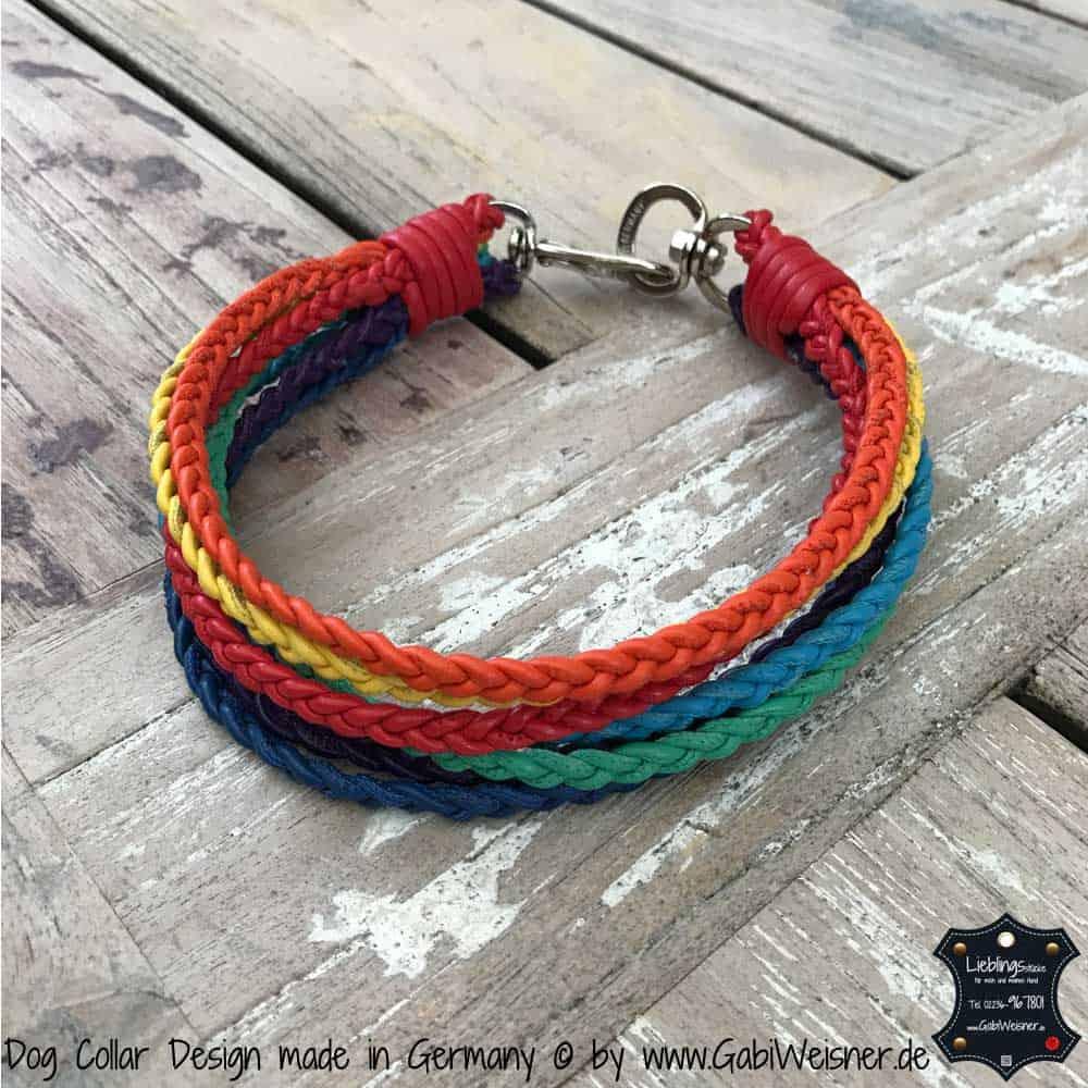 Regenbogen Halsband gute 3 cm breit geflochten-rot.jpg