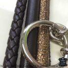 Weihnachtshalsband 4 cm breit Braun Gold