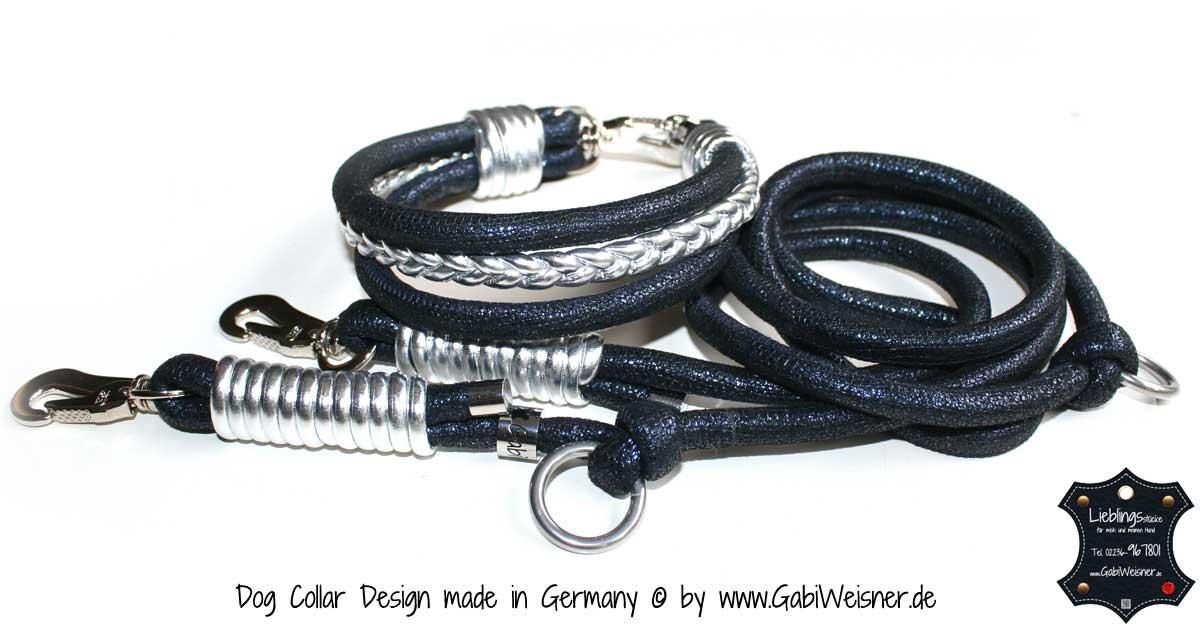halsband und leine 2 hundehalsband leder luxus f r hunde. Black Bedroom Furniture Sets. Home Design Ideas