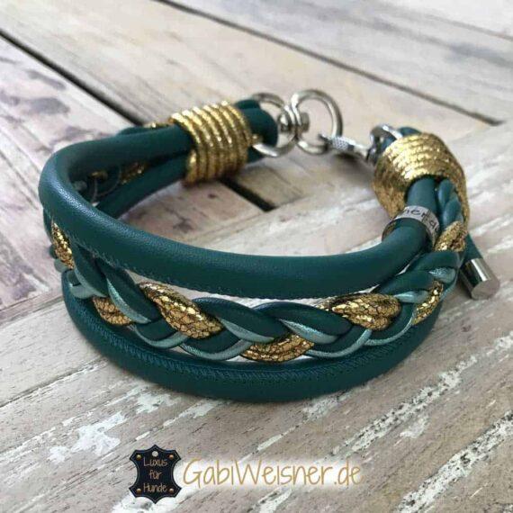 Hundehalsband Ledermix