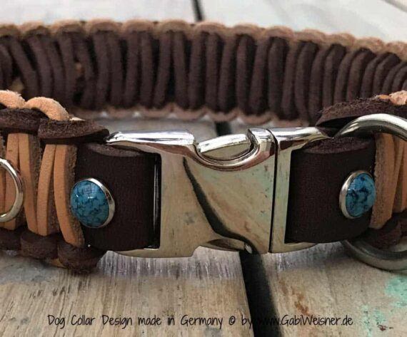 indianer halsband 3 5 cm breit f r kleine und gro e hunde. Black Bedroom Furniture Sets. Home Design Ideas