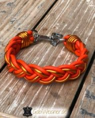hundehalsband-breit-geflochten-orange-metallic-1