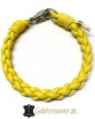 hundehalsband-leder-rund-geflochten-gelb-1
