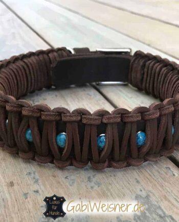 Indianer Halsband Leder doppelt gelegt 4 cm breit